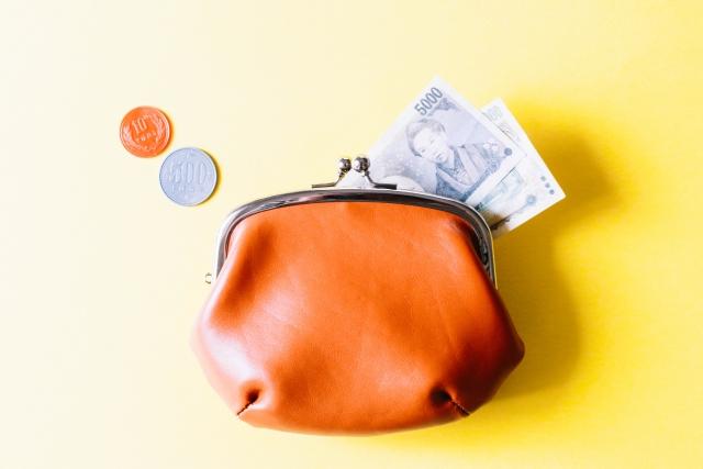 がま口財布とお金