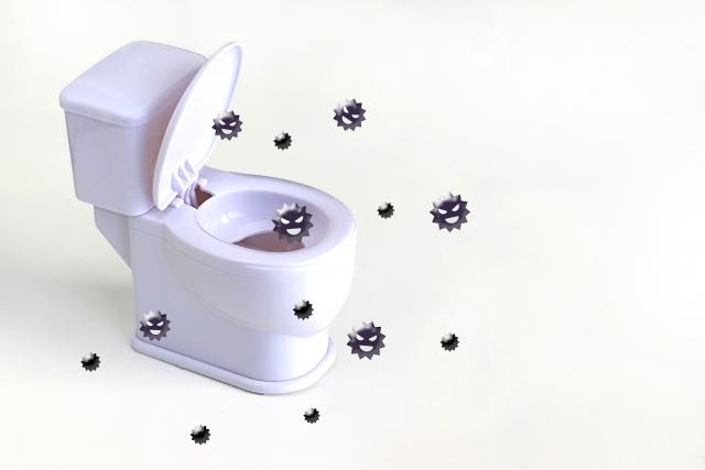 トイレとばい菌のイメージ